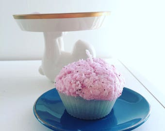 Handmade Cupcake Candle