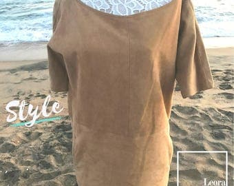 Ann Klein Sack Suede Dress