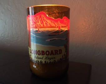 Kona Brewing Longboard ale soy wax beer bottle candle