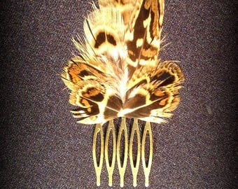 Little feather hair comb