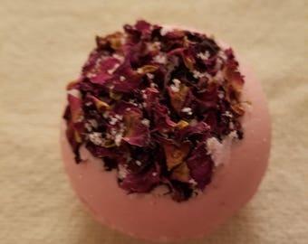 Botanical rose and milk bath bomb
