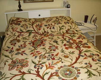 Embroidered Made in British India Bed Spread - Full