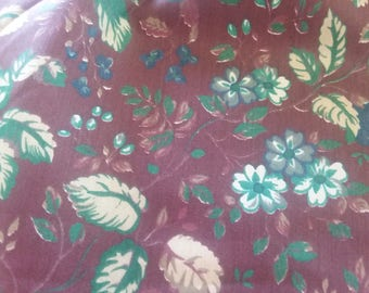 2.00 yd Floral Polished Cotton Print