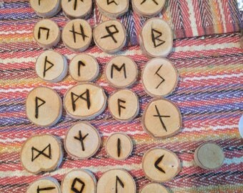 Hand Made Natural Birch Wood Runes