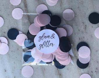 BLUSH & NAVY Blue Shimmer Confetti Dots/ Bridal / Birthday / Baby / Shower