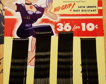 1950s Bobby Pins Sets - BOBBIE SMITH - Retro Pinup Vintage Art