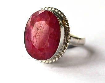 Rhodonite (pink) ring (Medium)