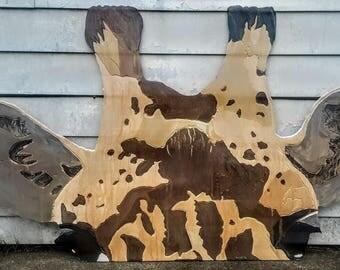 "Giant Giraffe Head ""Peeking In"""