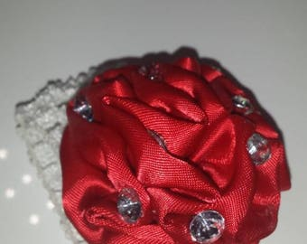 Red and white bun cover