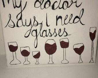8x10 Wine Canvas