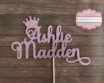 Glitter Card Stock Cake Topper - Personalised and Australian Made