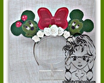 Mr Miss Mouse TOPIARY BuNDLE (6 Piece) Mr Miss Mouse Ears Headband ~ In the Hoop ~ Downloadable DiGiTaL Machine Emb Design by Carrie