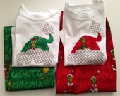 Toddler Grinch Pajama Pants and Shirt in Green or Red