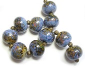 Rakuli Rounds Handmade Glass Lampwork Beads