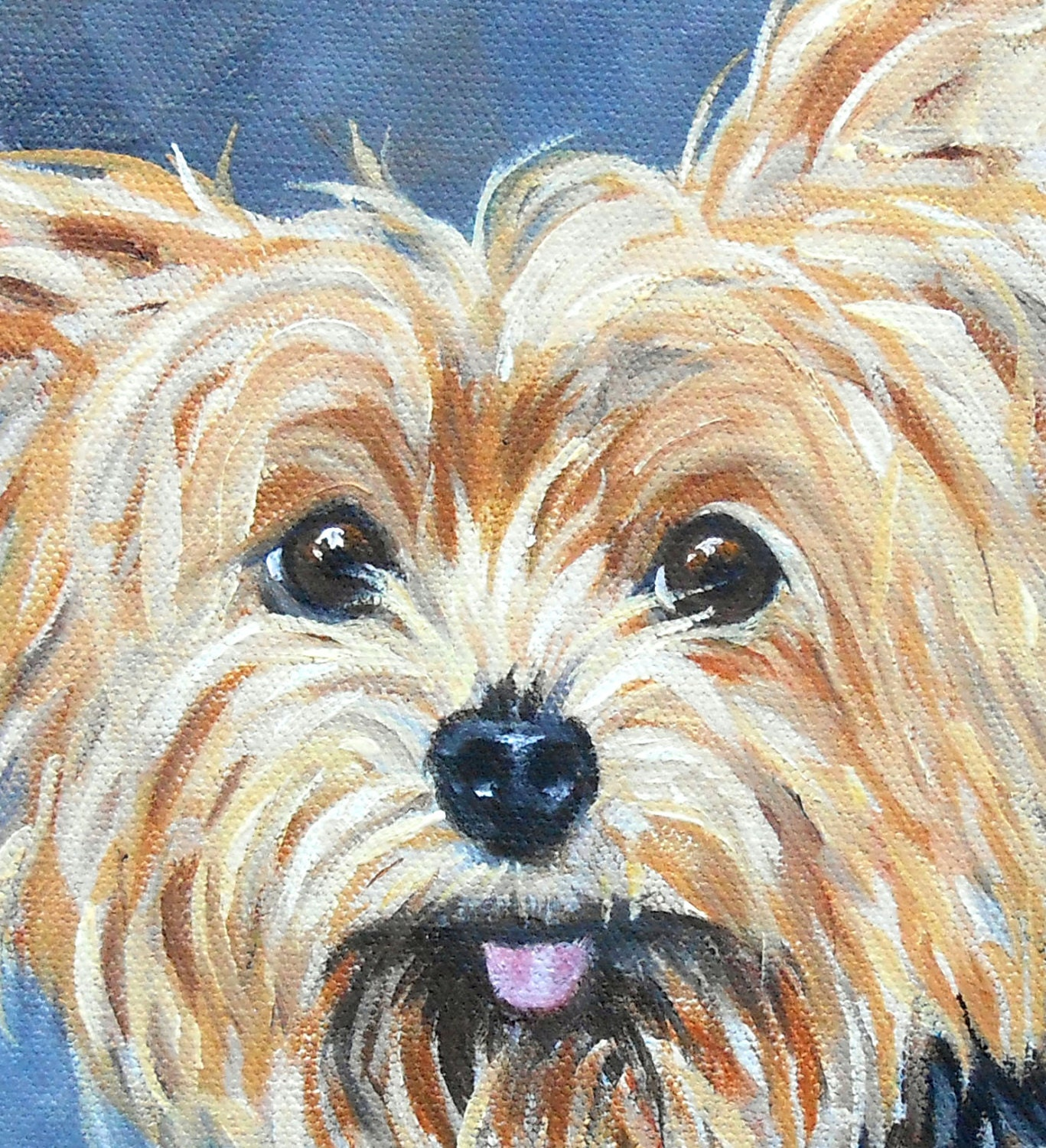 yorkie, yorkshire terrier, portrait, painting, artist, oil on canvas