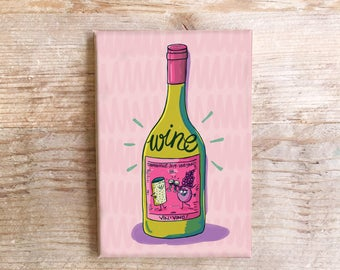 Wine Kitchen Magnet Fun Refrigerator Vino Food Fridge funny Foods
