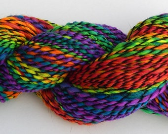 Dark Side Rainbow-Handspun Yarn