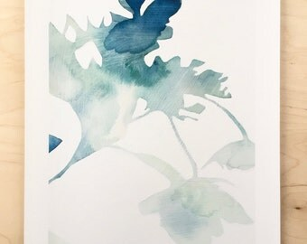 NEW // Hydrangea Shadow Print // Modern Decor // Garden Lovers // Plant Paintings // Modern Watercolor // Modern Abstract // Modern Print