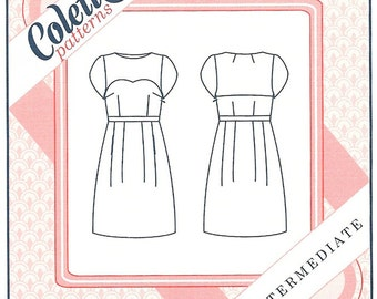 Colette 1001 - MACARON DRESS  - Sewing Pattern - Multi Sizes 0 to 18 - UNCUT