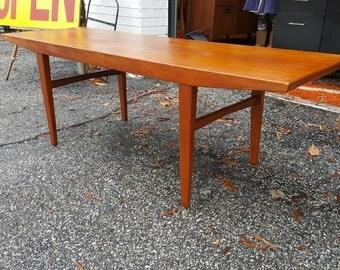Mid Century Modern Solid Teak Coffee Table