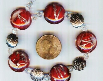 Strands of Assorted Christmas Holiday Design Focal Pendant Beads