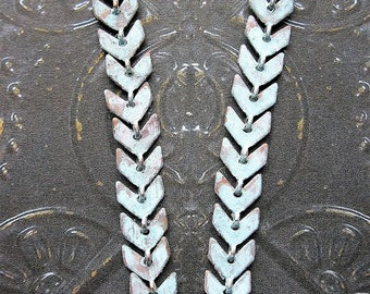 Chevron Earring Chains in Pale Blue Brass - 2 - 2 inch Pieces