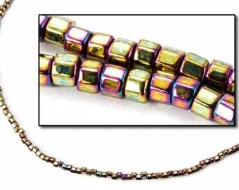 DBW023- 11/0 Metallic Gold Iris Cut Delica Beads