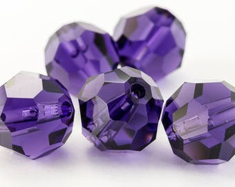 Swarovski 5000 6mm Purple Velvet Faceted Bead