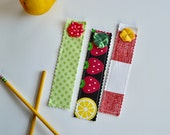 Bookmarks - Fabric bookmarks - Girls Bookmark - Book lover gift - stocking stuffer - Cheap gifts for girls - Gifts under 10 - Bookmarks