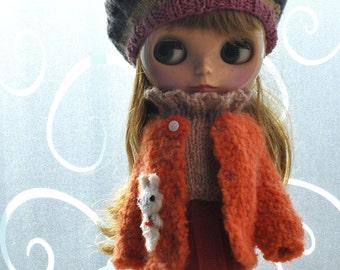 OOAK Cute Bunny Coat for Blythe Doll