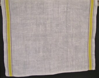 Linen Dish Towel with Yellow Stripe