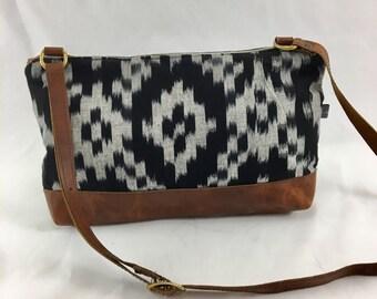SALE- Emma Crossbody Bag in Ikat