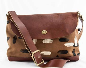 Messenger Bag—Las Manos Print