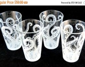 AFTER XMAS SALE Embracing Tentacles - 16oz Pint Glasses - Etched Glassware - Set of 4 - Ready to Ship
