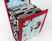 Circular Needle Case - Blue Rooster - Needle Holder Needle Wallet Circular Needle Organizer