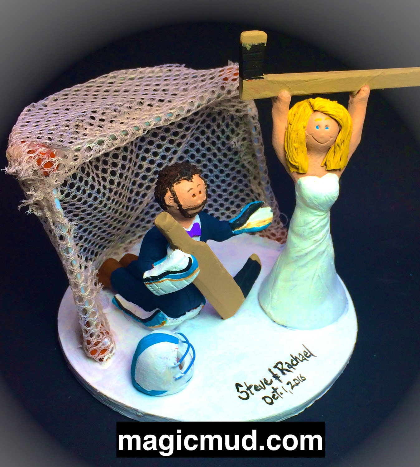 custom hockey wedding cake toppers hockey goalie wedding cake topper 13202