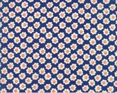 Coney Island - Cotton Blossoms in Midnight Blue: sku 20281-11 cotton quilting fabric by Fig Tree and Co. for Moda Fabrics - 1 yard