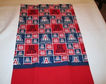 Pillowcase, travel size, Arizona State, ASU, sports, college, home and living, bedding, handcrafted, Tucson, football, basketball