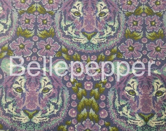 Tula Pink Eden Crouching Tiger Amethyst Fabric, 1 Yard