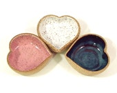 SALE: Single Itty Bitty Dippy HEART Dish- PINK