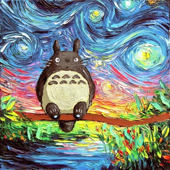 ゴッホ 星月夜 トトロ