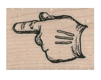 Rubber stamp hand glove  Hands Pointing stamps scrapbooking supplies number 10072