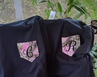 Pink Camo Pocketshirt