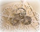 vintage rhinestone costume jewelry brooches 3 rhinestone circle brooches