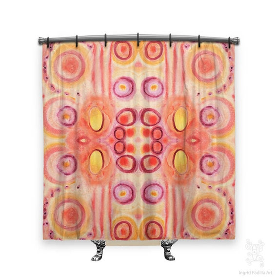 Shower Curtain, Shower curtains, Watercolor shower curtain, Boho Shower curtain, Fabric shower curtain, Shower curtain art, shower curtain