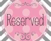 Reserved Listing for Jaclyn