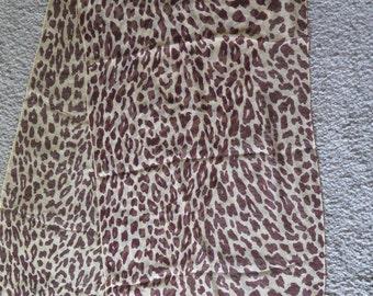 Beautiful Leopard Print Sheer Silk Chiffon Rectangular Scarf