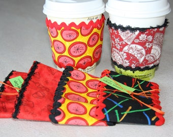 Coffee Cup Sleeve, Coffee Cozy, Reusable Coffee Sleeve