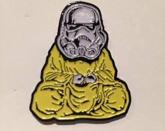 Stormtrooper Buddha Soft Enamel Pin zen trooper trooper