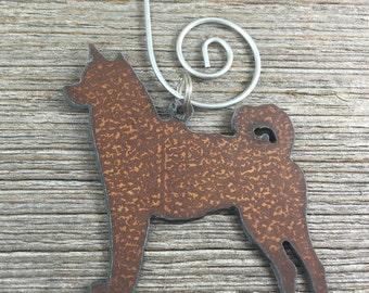 Husky Christmas Ornament, Shiba Inu Christmas Ornament, or Akita Christmas Ornament, Dog Ornament, Dog Gift, Akita Gift, Husky Gift